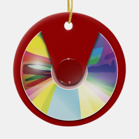 Compact disc ornament