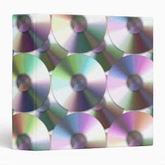 Compact Disc Rainbow Reflective Pattern 3 Ring Binder