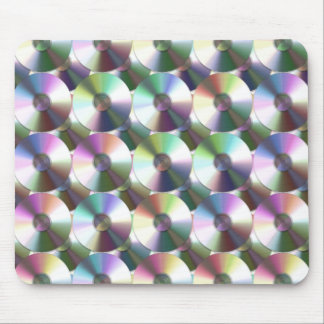 Compact Disc Rainbow Reflective Pattern Mouse Pad