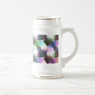 Compact Disc Rainbow Reflective Pattern Mugs