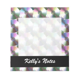 Compact Disc Rainbow Reflective Pattern Notepad