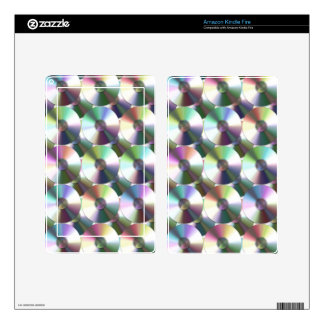 Compact Disc Rainbow Reflective Pattern Skins For Kindle Fire