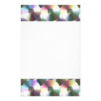 Compact Disc Rainbow Reflective Pattern Stationery
