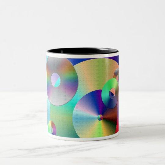 Compact Discs Two-Tone Coffee Mug