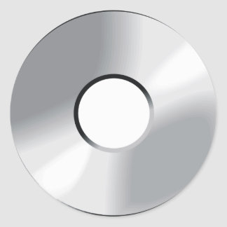 compact disk cd classic round sticker