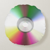 Compact Disk CD, DVD Round Pillow