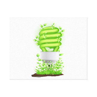 compact flourescent light graphic with grass.png canvas print