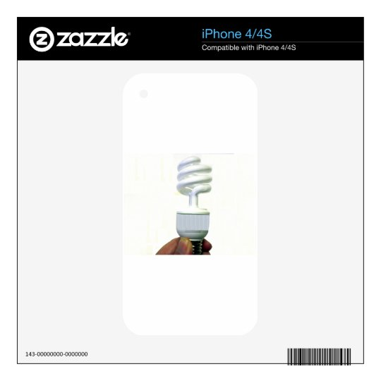 Compact Fluorescent bulb iPhone 4S Skins