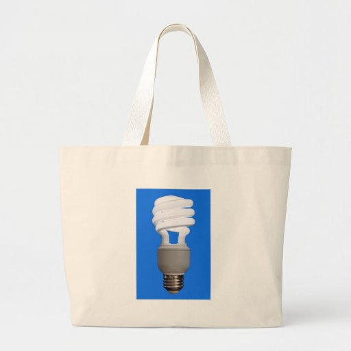 Compact Fluorescent Bulb Jumbo Tote Bag
