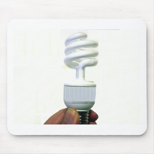 Compact Fluorescent bulb Mouse Pad