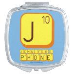 J JENNIFER'S PHONE  Compact Mirror