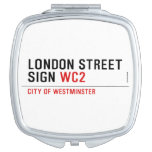 LONDON STREET SIGN  Compact Mirror