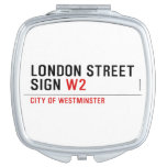 LONDON STREET SIGN  Compact Mirror