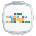 free  happy life  vision  love peace  Compact Mirror