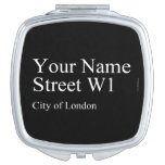 Your Name Street  Compact Mirror
