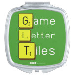 Game Letter Tiles  Compact Mirror