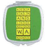 keep calm and love Retha wa Bongz  Compact Mirror