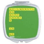 AEILNORSTU DG BCMP FHVWY K   JX  QZ  Compact Mirror