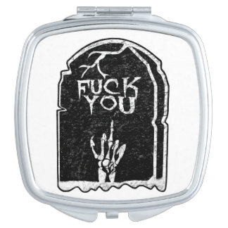 Compact Mirror - Fuck You Headstone