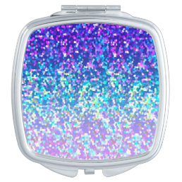 Compact Mirror Glitter Graphic