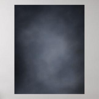 COMPACT PHOTO BACKDROP - Dark Gray Light Center Poster
