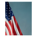 COMPACT PHOTO BACKDROP - US Flag on Blue Gray Posters