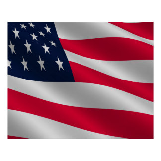 COMPACT PHOTO BACKDROP - US Flag Stars and Stripes Poster