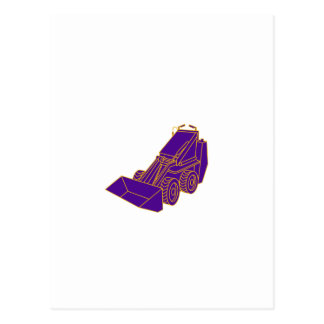 Compact Skid Steer Mono LIne Postcard