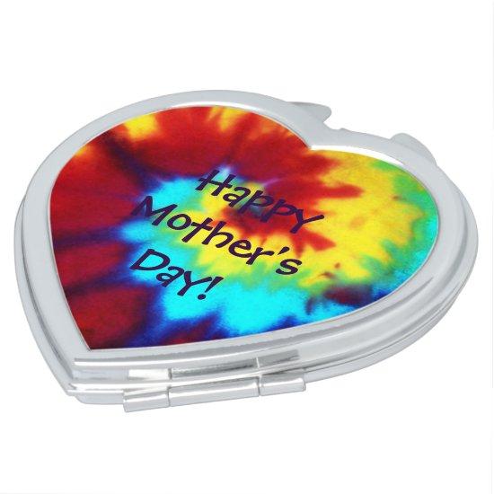 Compact Tie Dye Look Mother's Day Vanity Mirror