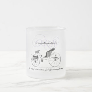 Compact Vehicle 10 Oz Frosted Glass Coffee Mug