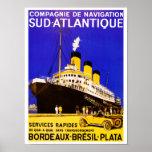 Compagnie De Navigation Sud Atlantique Poster
