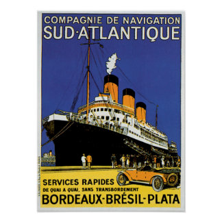 Compagnie de Navigation Sud-Atlantique Poster