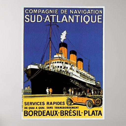 Compagnie de Navigation Sud-Atlantique Póster