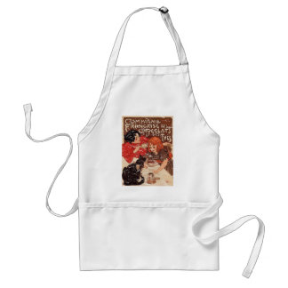 Compagnie - distressed adult apron