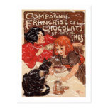 Compagnie - distressed postcard