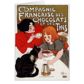 Compagnie Francaise des Chocolats, Steinlen Greeting Card