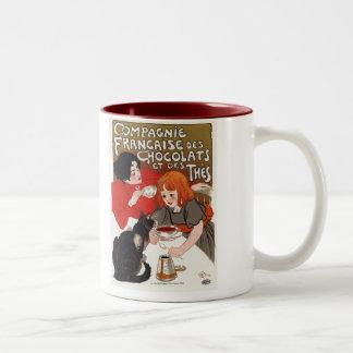 Compagnie Francaise des Chocolats, Steinlen Two-Tone Coffee Mug