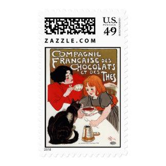Compagnie Francaise des Chocolats, Steinlen Postage Stamp