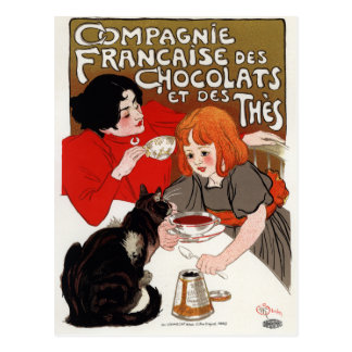 Compagnie Francaise des Chocolats, Steinlen Postcard