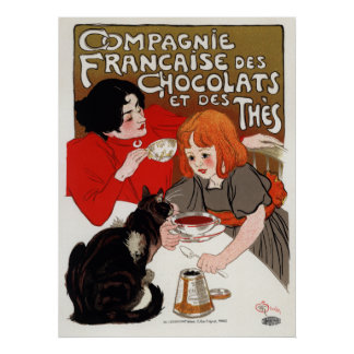 Compagnie Francaise des Chocolats, Steinlen Print