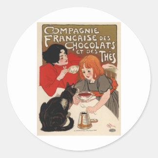 Compagnie Francaise Des Chocolats Classic Round Sticker