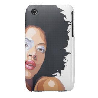 compañero Afro-céntrico del caso del iPhone 3 iPhone 3 Case-Mate Carcasa
