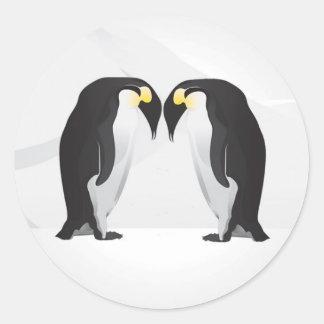 compañero de 20 - 1,5 del sobre pingüinos del pegatina redonda