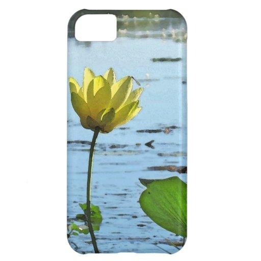 Compañero de la caja de la flor de Lotus de la mañ Carcasa Para iPhone 5C