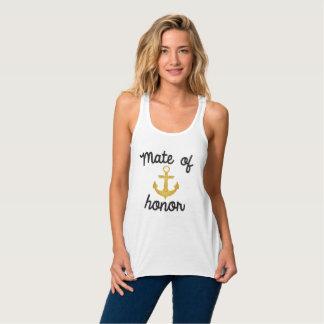 Compañero de la camiseta náutica del ancla del playera de tirantes cruzados holgada