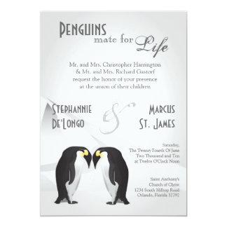 compañero de los pingüinos 5x7 para la invitación invitación 12,7 x 17,8 cm