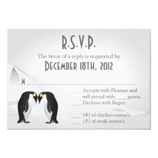 """compañero de los pingüinos de la tarjeta de invitación 3.5"""" x 5"""""""