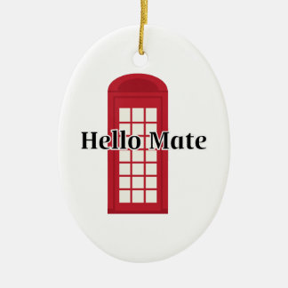 Compañero de Phonebooth_Hello Adorno Ovalado De Cerámica