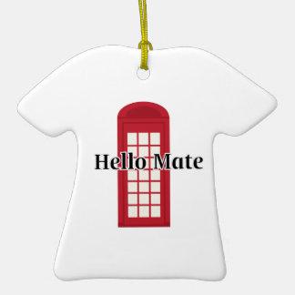 Compañero de Phonebooth_Hello Adorno De Cerámica En Forma De Playera