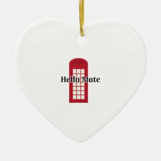 Compañero de Phonebooth_Hello Adorno De Cerámica En Forma De Corazón